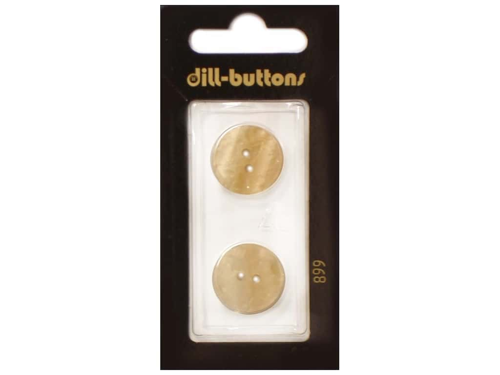 Dill 2 Hole Buttons 11/16 in. Cream #899 2 pc.