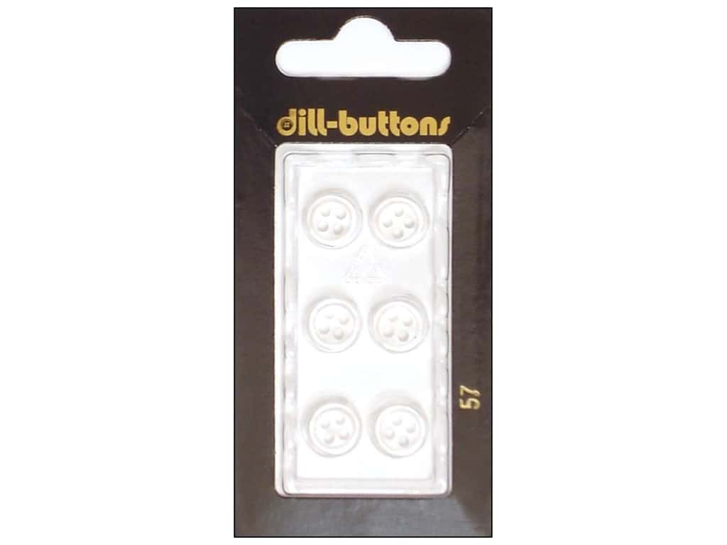 Dill 4 Hole Buttons 3/8 in. White #57 6 pc.