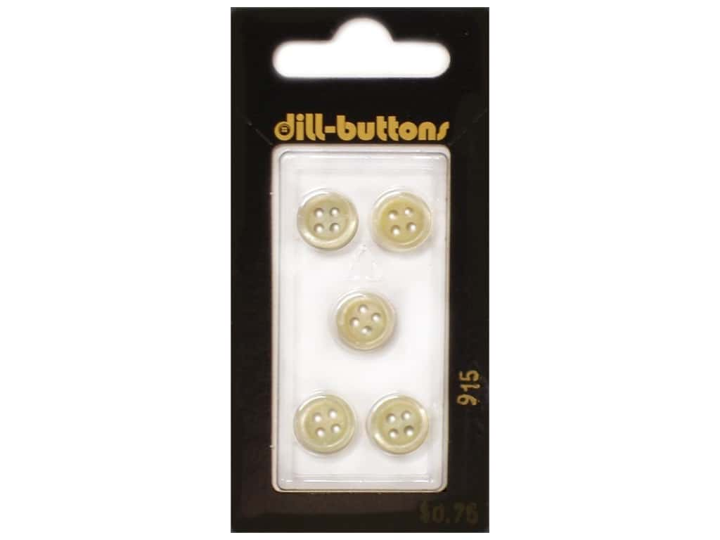 Dill 4 Hole Buttons 3/8 in. Yellow #915 5 pc.