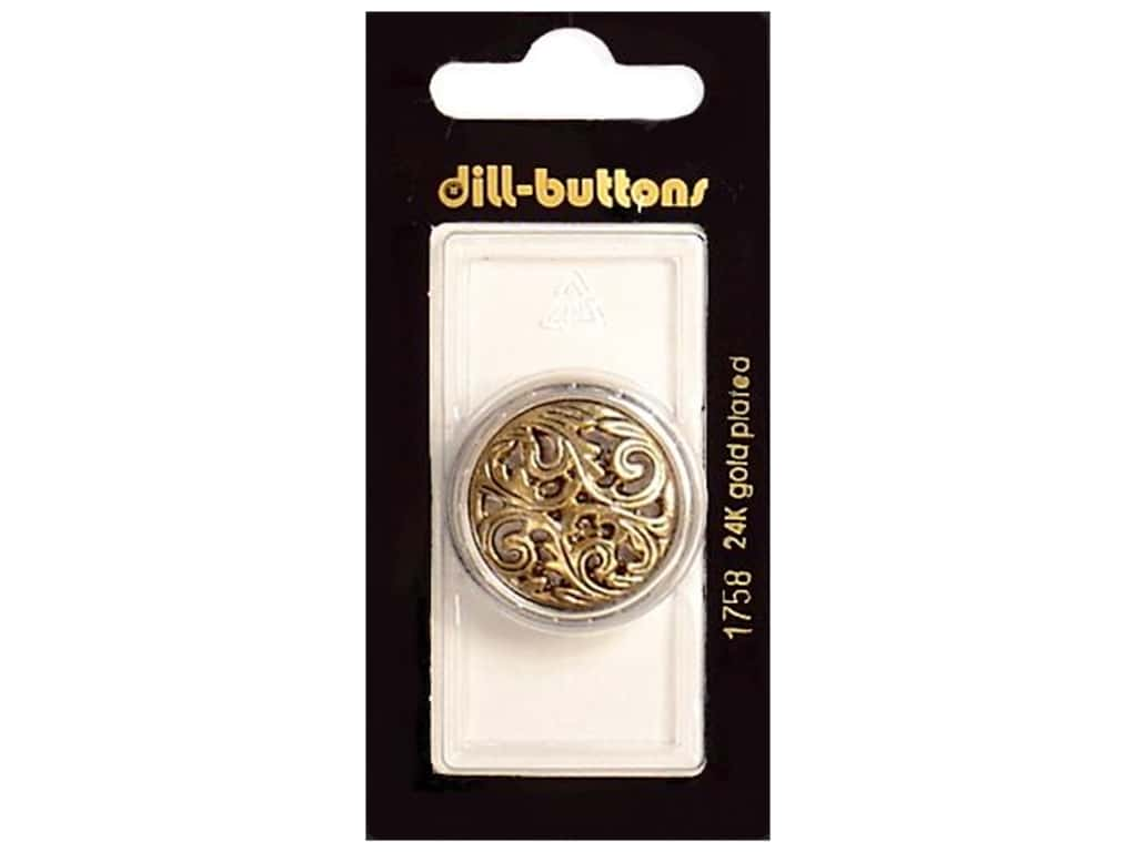 Dill Shank Buttons 1 1/8 in. Antique Gold #1758 1 pc.