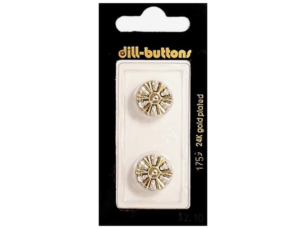 Dill Shank Buttons 5/8 in. Gold #1759 2 pc.