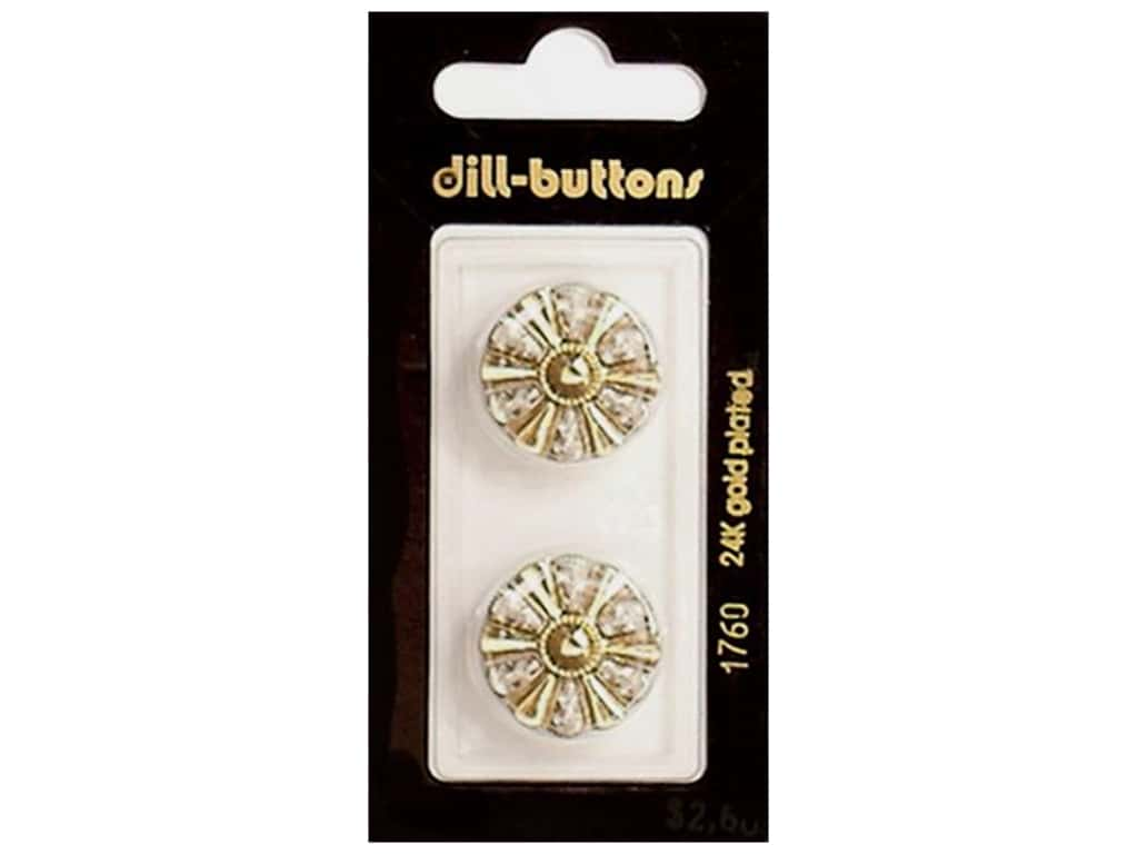 Dill Shank Buttons 13/16 in. Gold #1760 2 pc.