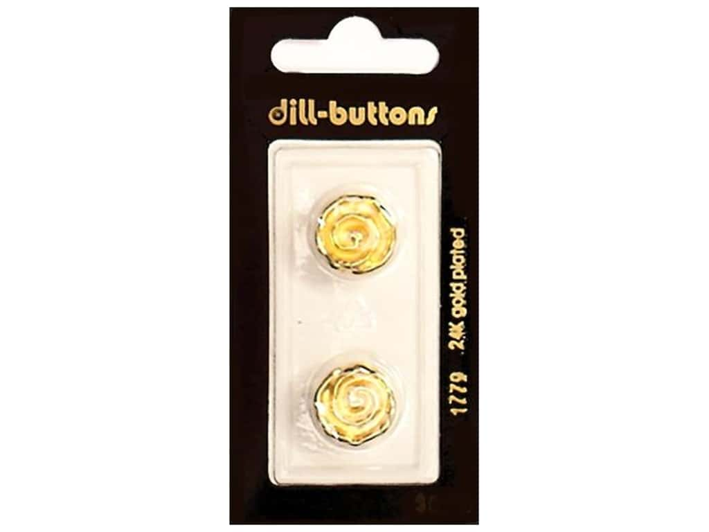 Dill Shank Buttons 5/8 in. Swirl Gold #1779 2 pc.