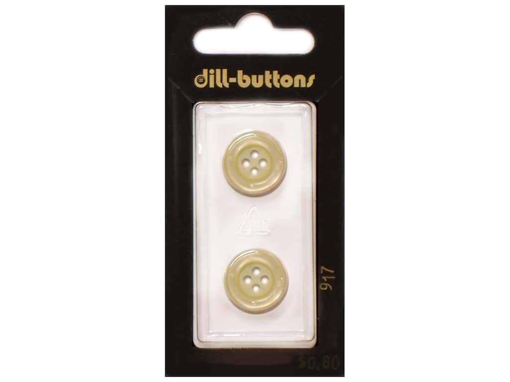 Dill 4 Hole Buttons 5/8 in. Yellow #917 2 pc.