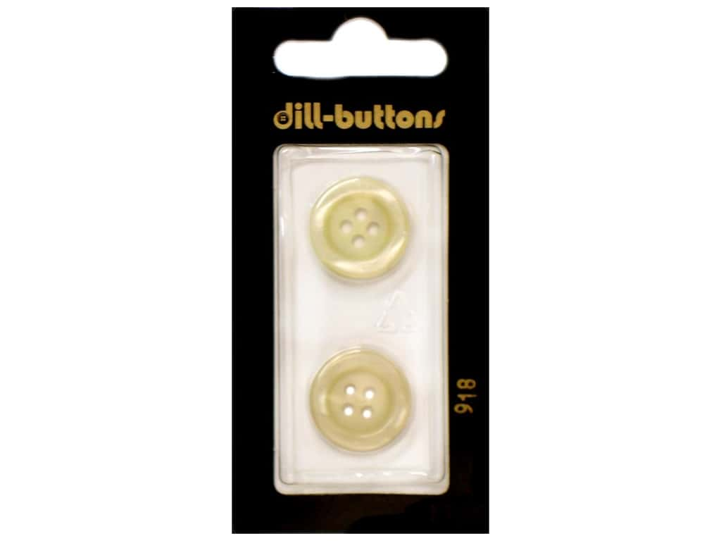 Dill 4 Hole Buttons 11/16 in. Yellow #918 2 pc.