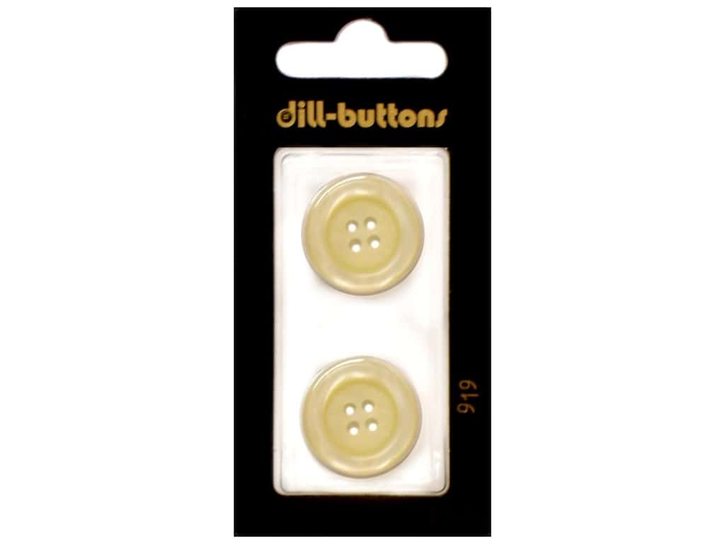 Dill 4 Hole Buttons 13/16 in. Cream #919 2 pc.