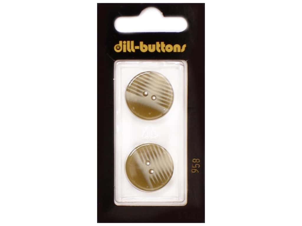 Dill 2 Hole Buttons 13/16 in. Beige #958 2 pc.