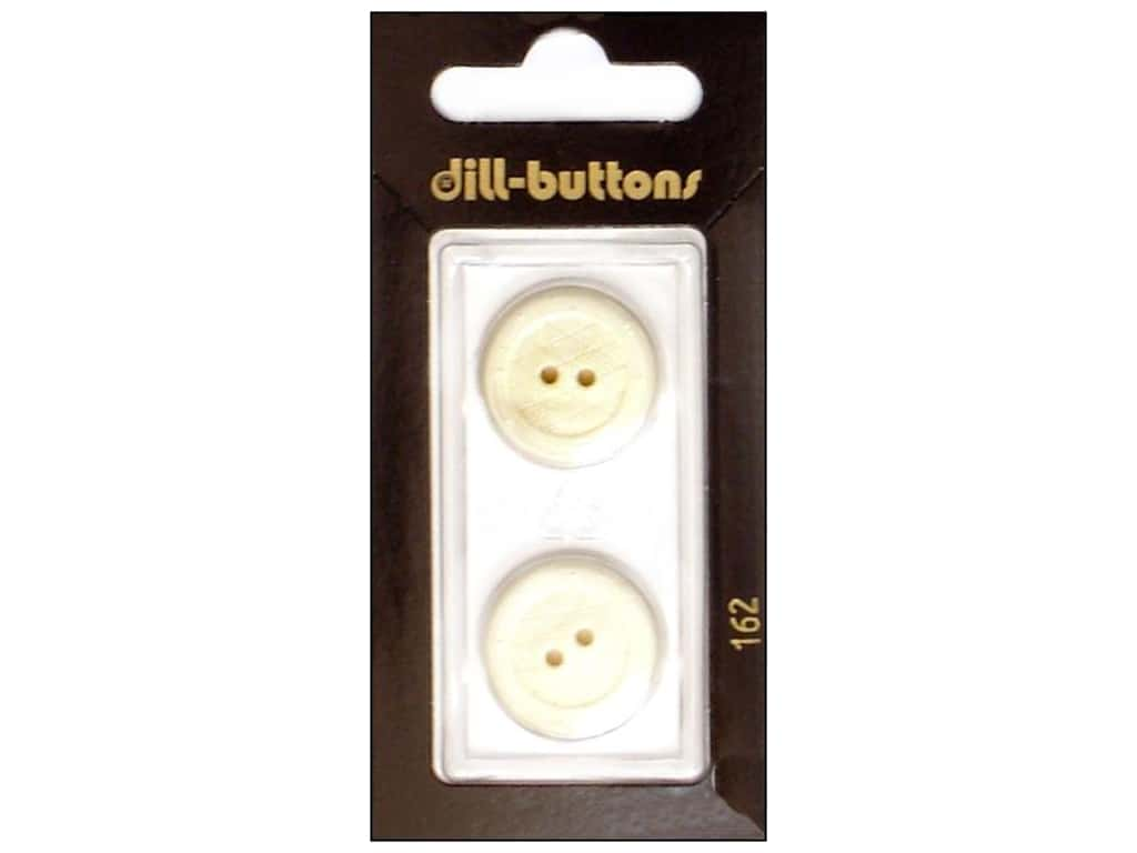 Dill 2 Hole Buttons 13/16 in. White #162 2 pc.