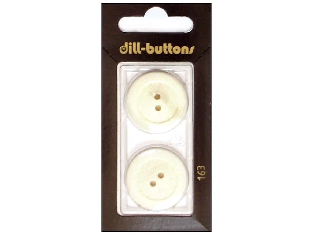 Dill 2 Hole Buttons 1 in. White #163 2 pc.