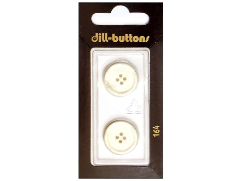 Dill 4 Hole Buttons 11/16 in. White #164 2 pc.
