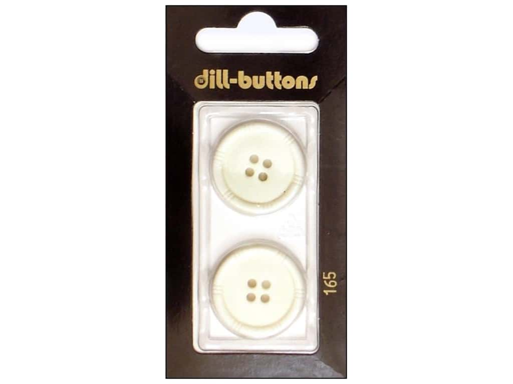 Dill 4 Hole Buttons 7/8 in. White #165 2 pc.