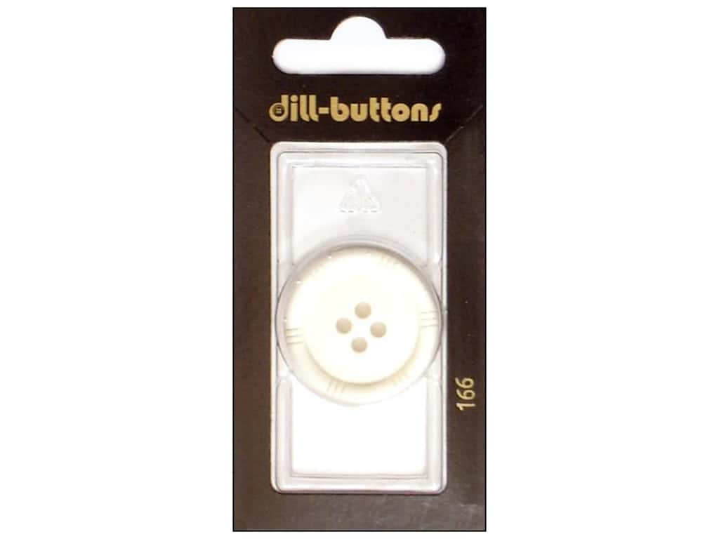 Dill 4 Hole Buttons 1 1/8 in. White #166 1 pc.
