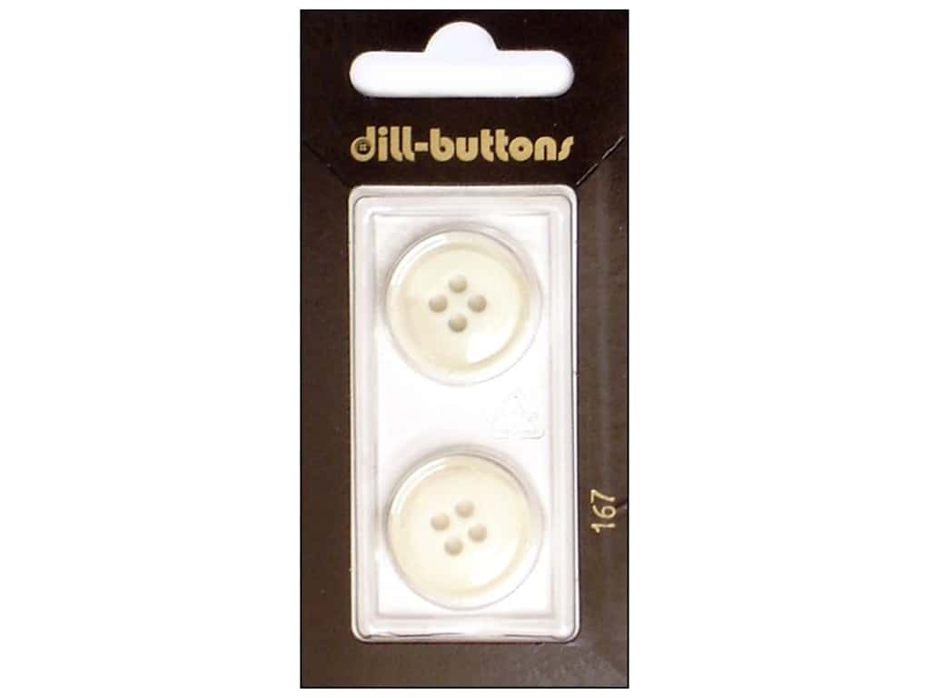 Dill 4 Hole Buttons 13/16 in. White #167 2 pc.