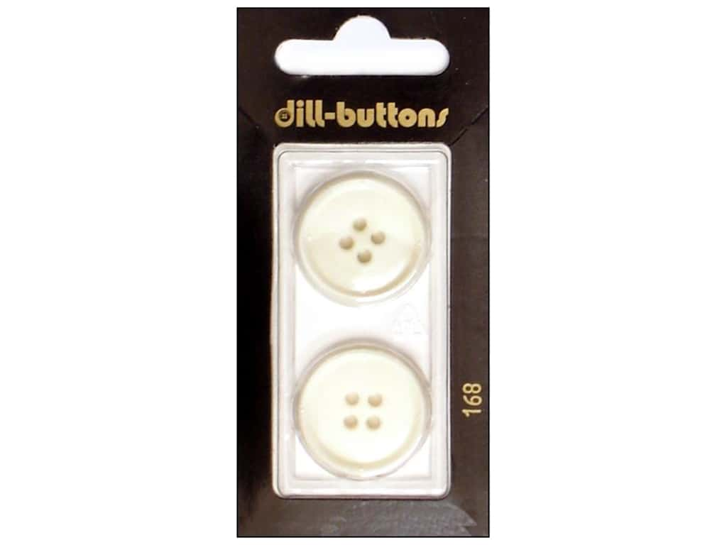 Dill 4 Hole Buttons 7/8 in. White #168 2 pc.
