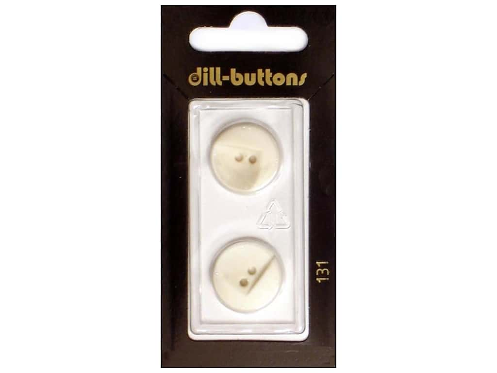 Dill 2 Hole Buttons 11/16 in. White #131 2 pc.