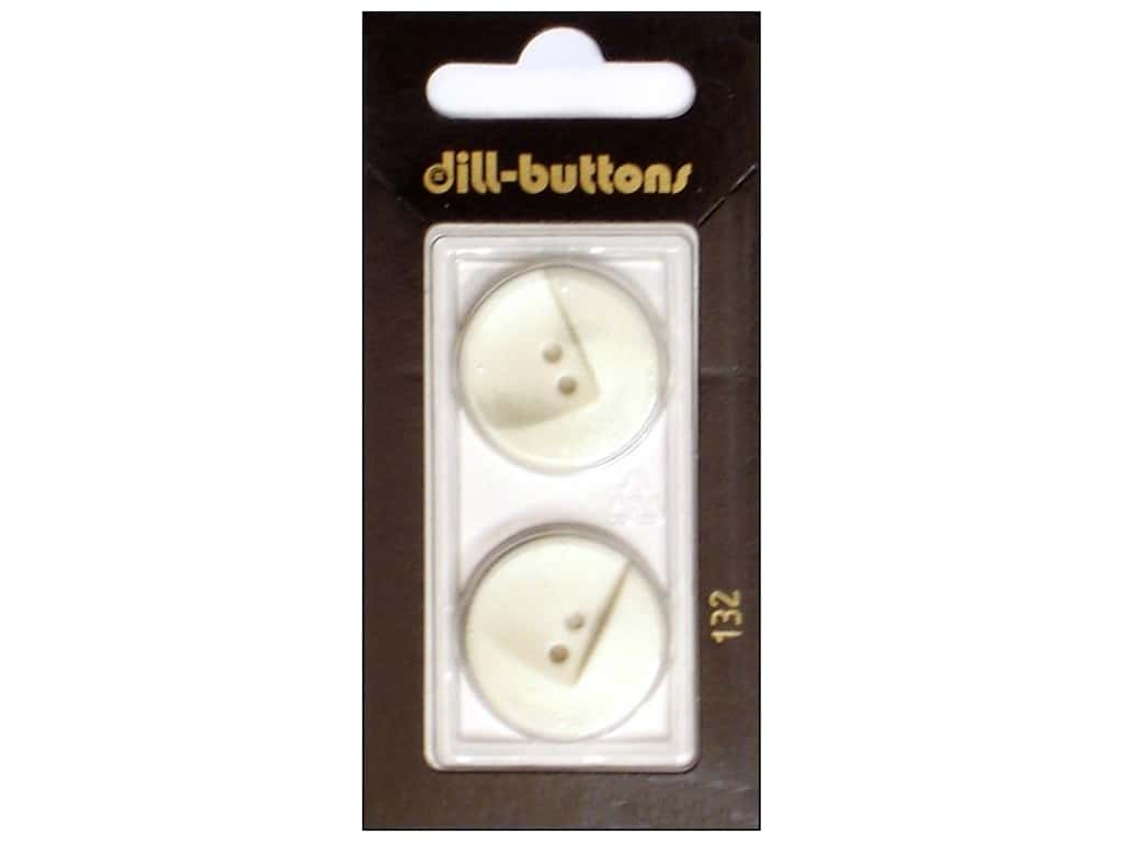 Dill 2 Hole Buttons 7/8 in. White #132 2 pc.