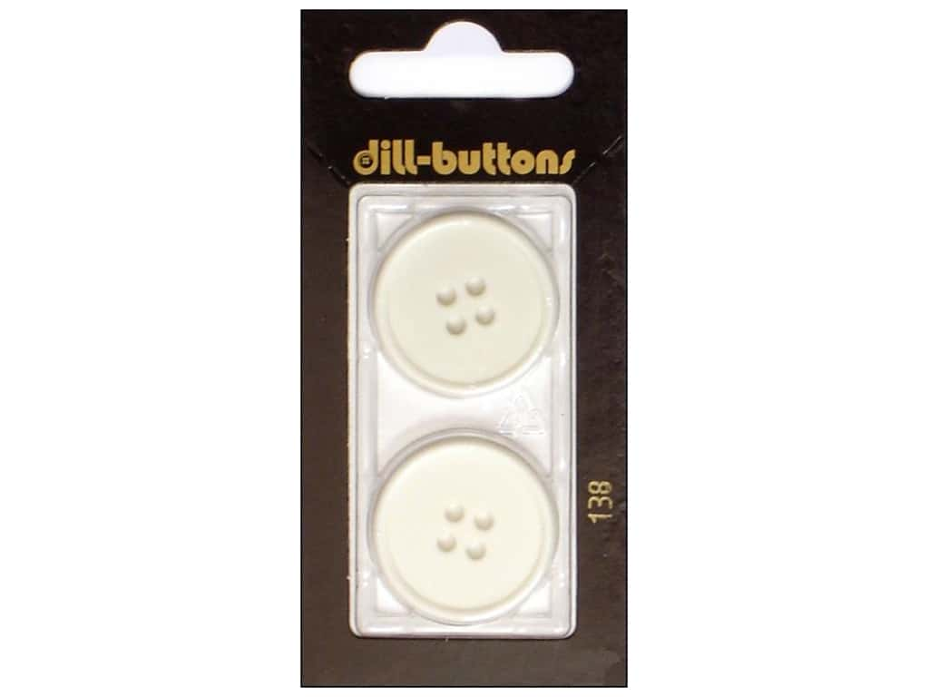 Dill 4 Hole Buttons 1 in. White #138 2 pc.
