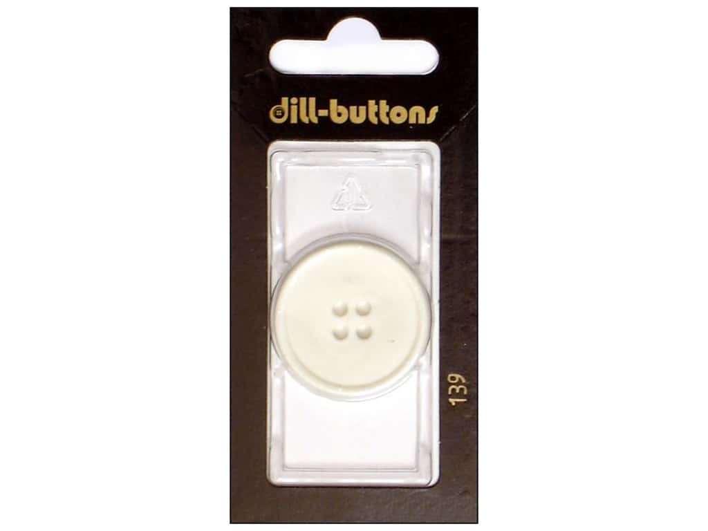 Dill 4 Hole Buttons 1 1/8 in. White #139 1 pc.