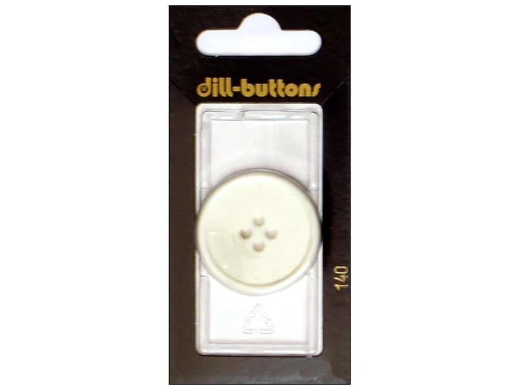 Dill 4 Hole Buttons 1 1/4 in. Ivory #140 1 pc.