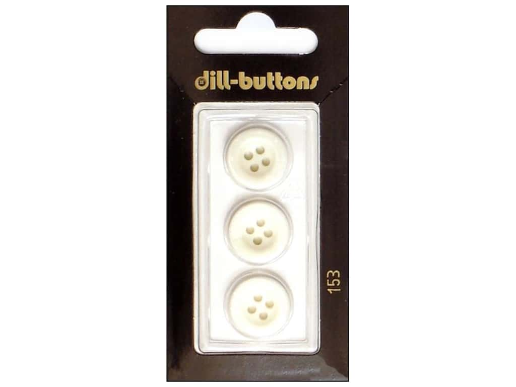 Dill 4 Hole Buttons 5/8 in. White #153 3 pc.