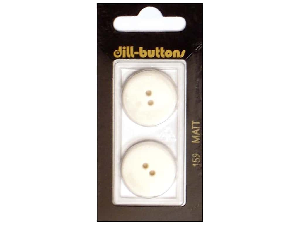Dill 2 Hole Buttons 7/8 in. Pure White #159 2 pc.