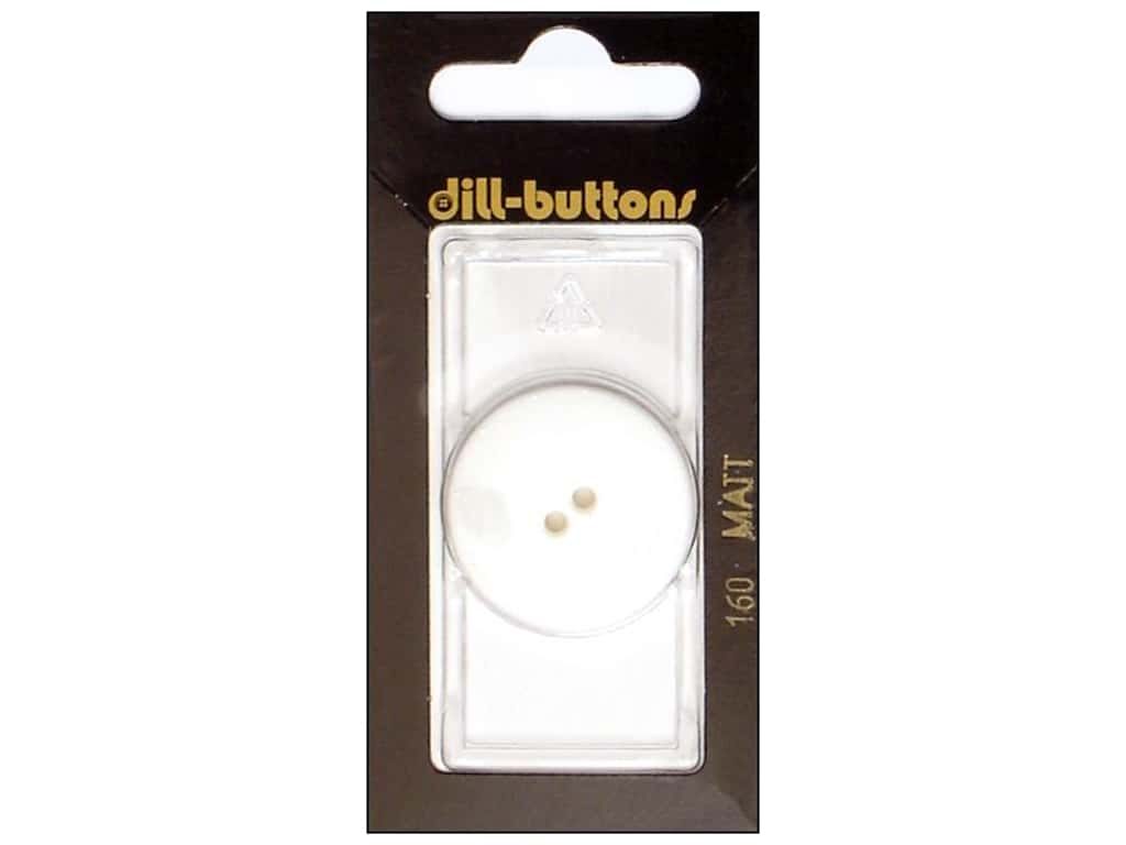 Dill 2 Hole Buttons 1 1/8 in. Pure White #160 1 pc.