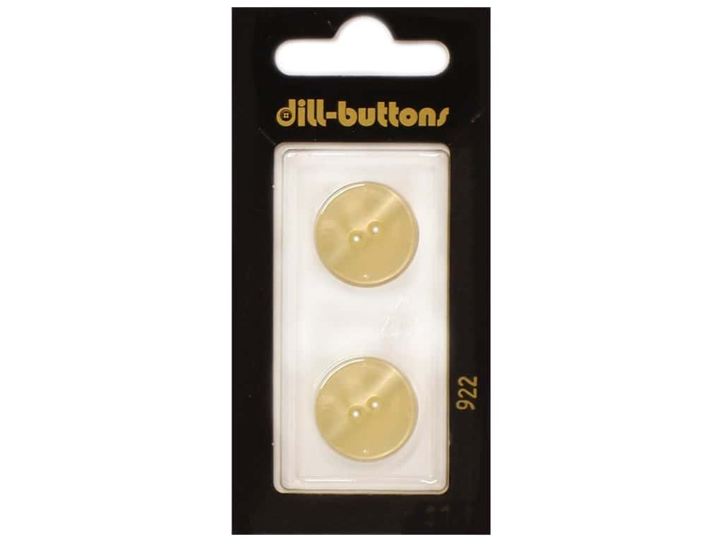 Dill 2 Hole Buttons 11/16 in. Cream #922 2 pc.