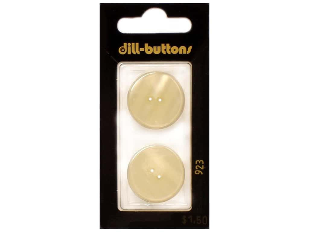 Dill 2 Hole Buttons 7/8 in. Cream #923 2 pc.