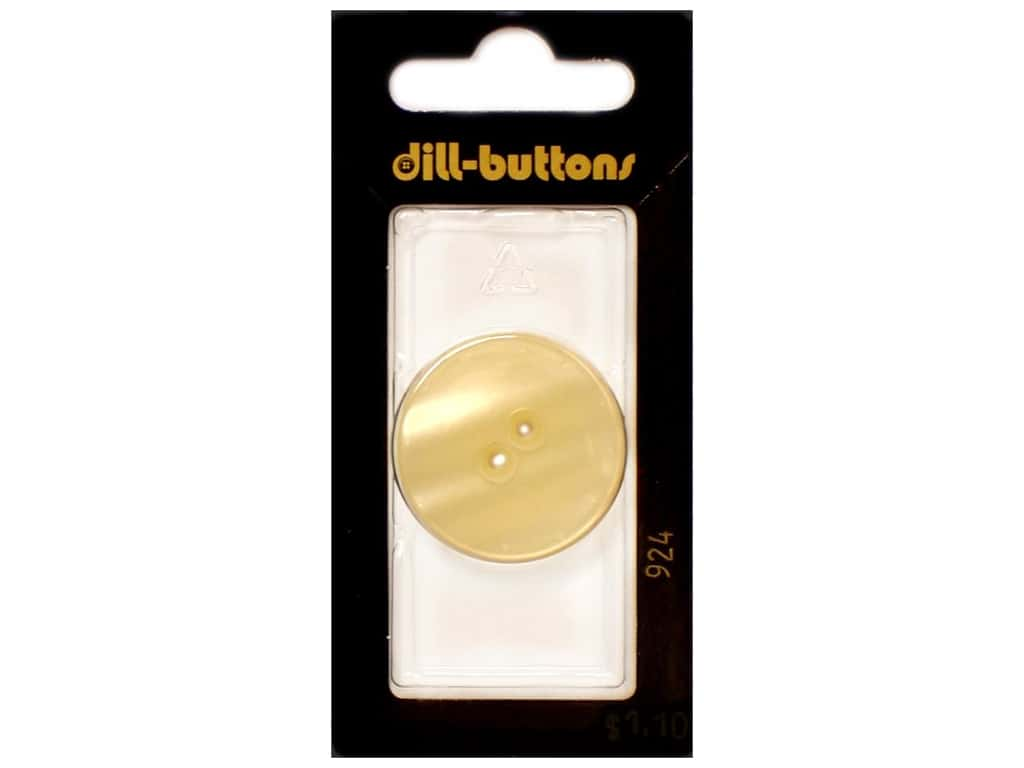 Dill 2 Hole Buttons 1 1/8 in. Cream #924 1 pc.