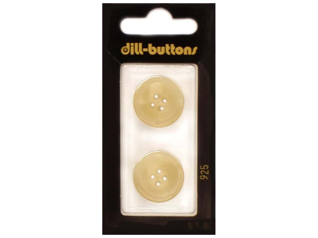 Dill 4 Hole Buttons 13/16 in. Beige #925 2 pc.