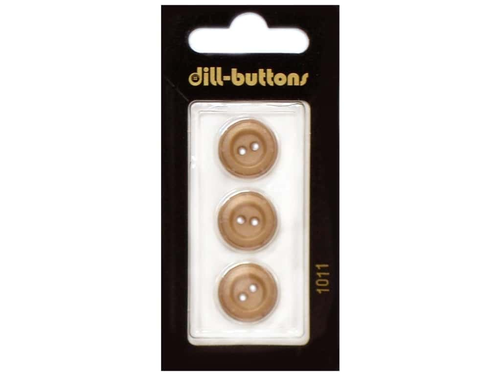 Dill 2 Hole Buttons 5/8 in. Brown #1011 3 pc.