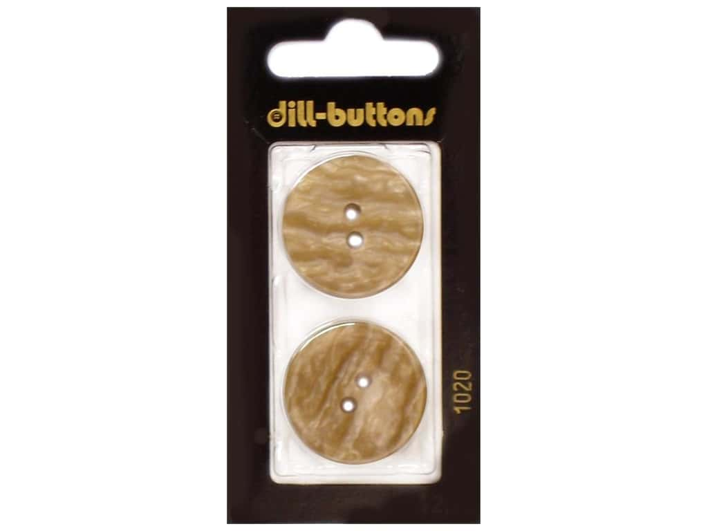 Dill 2 Hole Buttons 1 in. Beige #1020 2 pc.