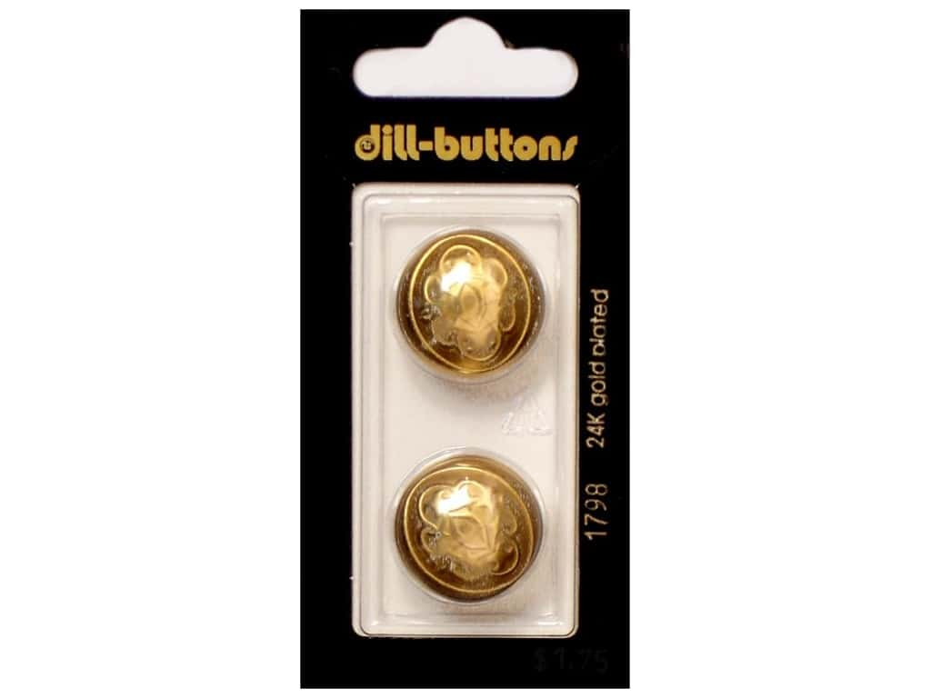 Dill Shank Buttons 13/16 in. Gold Metal #1798 2 pc.