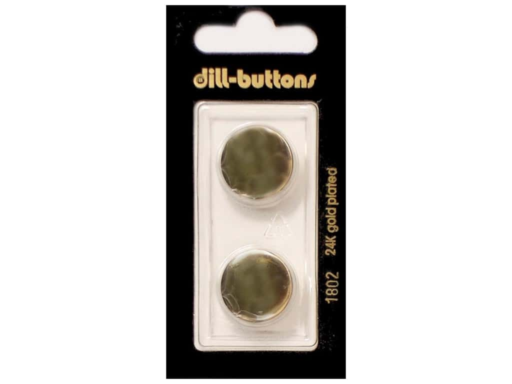 Dill Shank Buttons 11/16 in. Metal Gold #1802 2 pc.