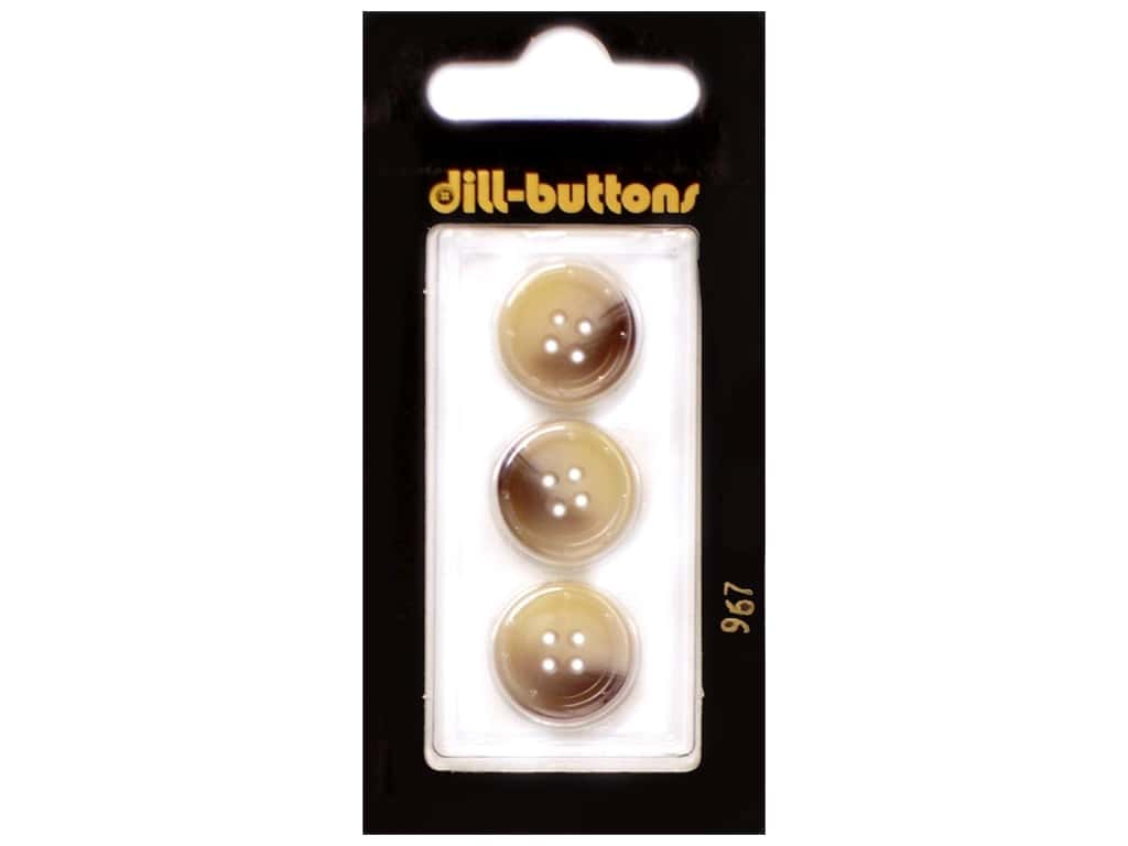 Dill 4 Hole Buttons 5/8 in. Beige #967 3 pc.