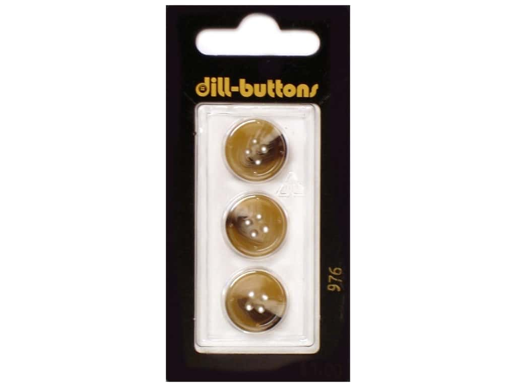 Dill 4 Hole Buttons 5/8 in. Beige #976 3 pc.