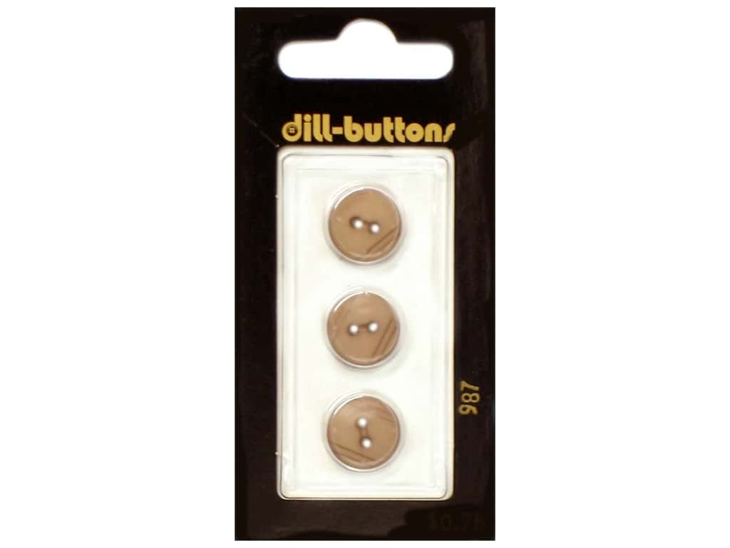 Dill 2 Hole Buttons 1/2 in. Beige #987 3 pc.