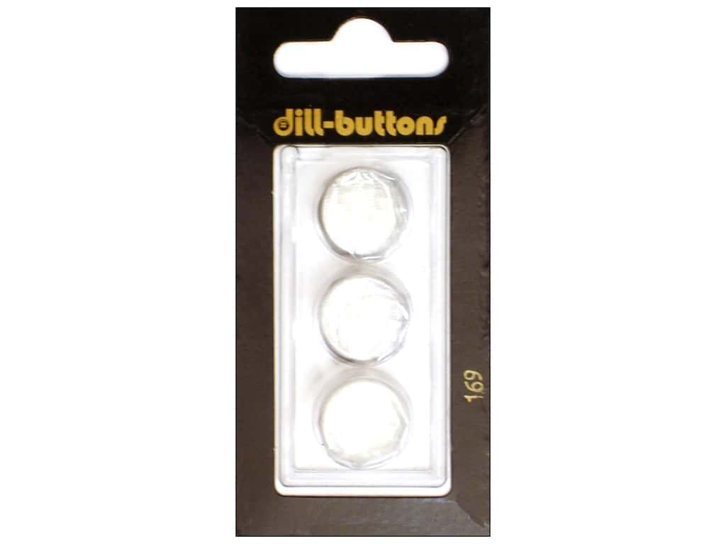 Dill Shank Buttons 5/8 in. Pure White #169 3 pc.