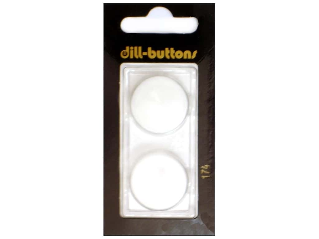 Dill Shank Buttons 7/8 in. Pure White #174 2 pc.