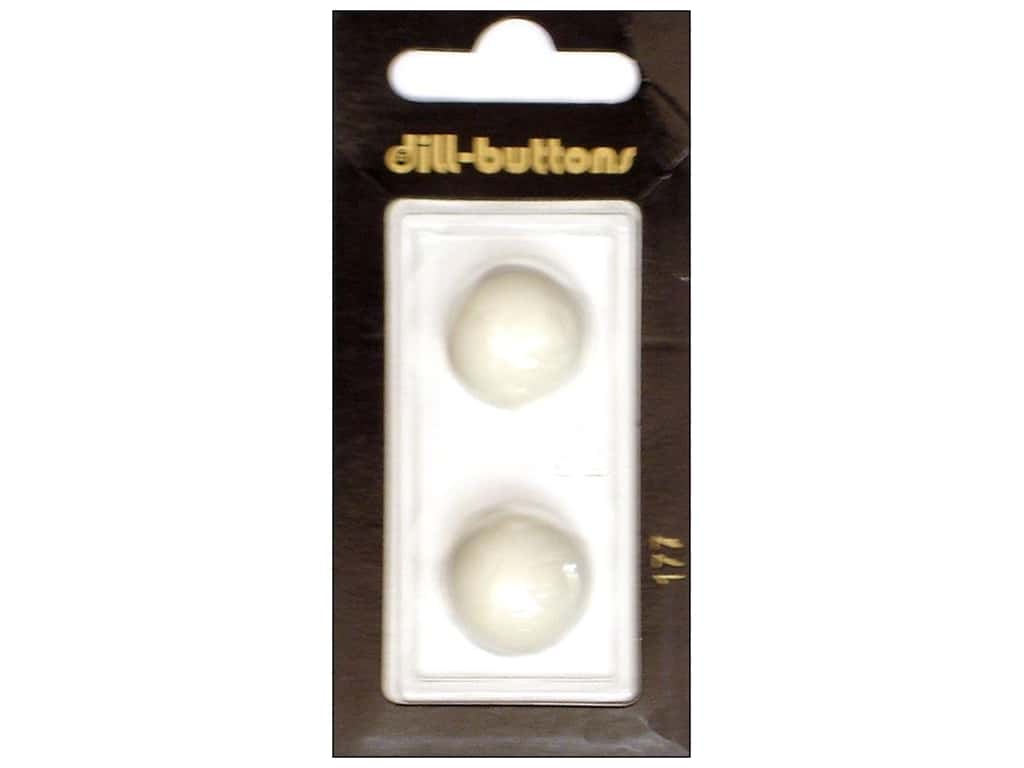 Dill Shank Buttons 11/16 in. White #177 2 pc.