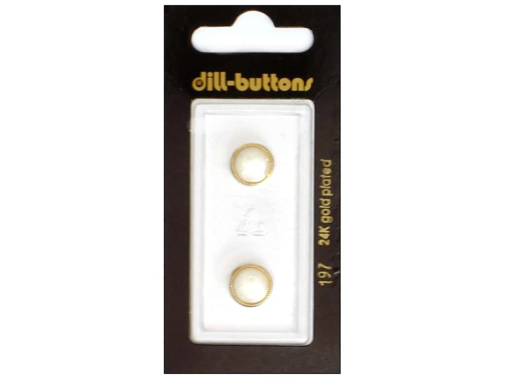 Dill Shank Buttons 7/16 in. White #197 2 pc.