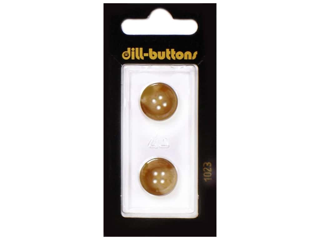 Dill 4 Hole Buttons 5/8 in. Brown #1023 2 pc.