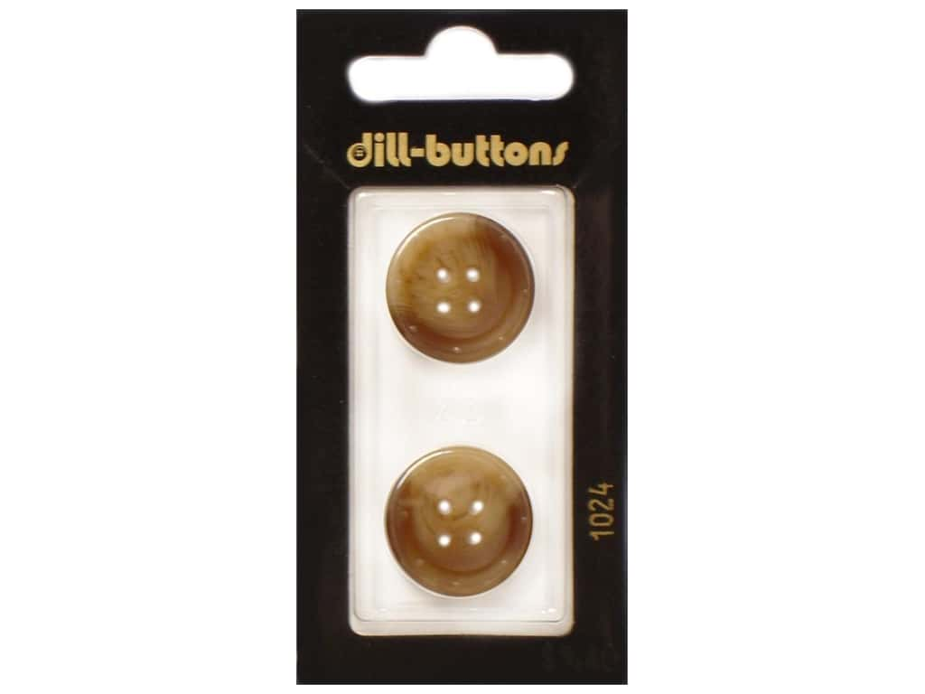 Dill 4 Hole Buttons 13/16 in. Brown #1024 2 pc.