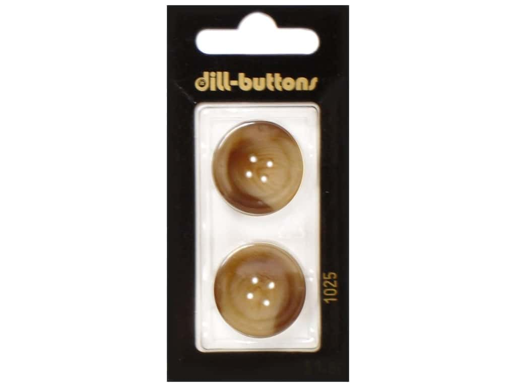 Dill 4 Hole Buttons 7/8 in. Brown #1025 2 pc.