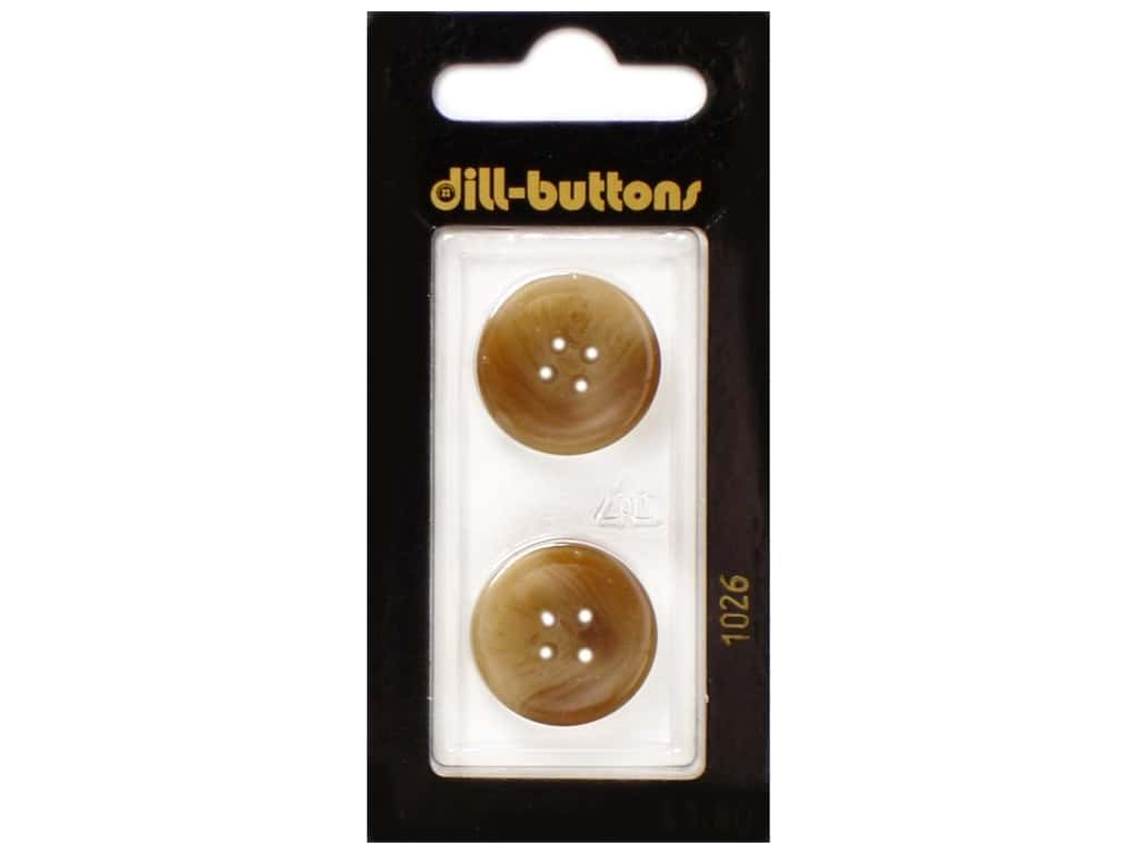Dill 4 Hole Buttons 13/16 in. Brown #1026 2 pc.