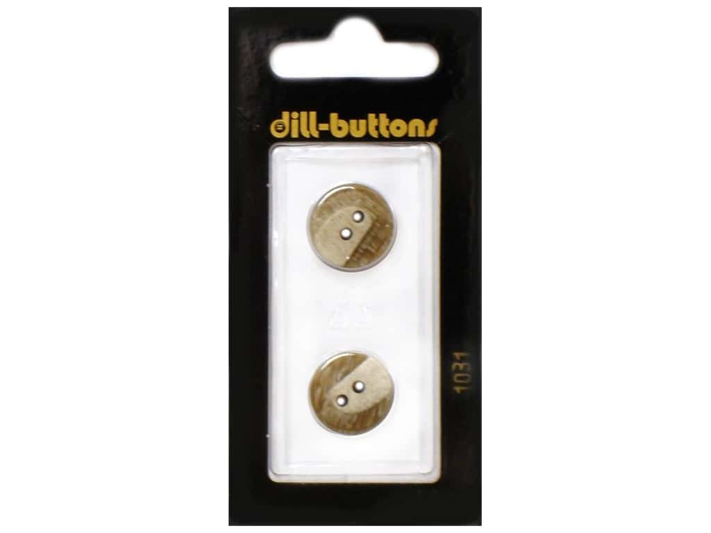 Dill 2 Hole Buttons 5/8 in. Beige  #1031 2 pc.