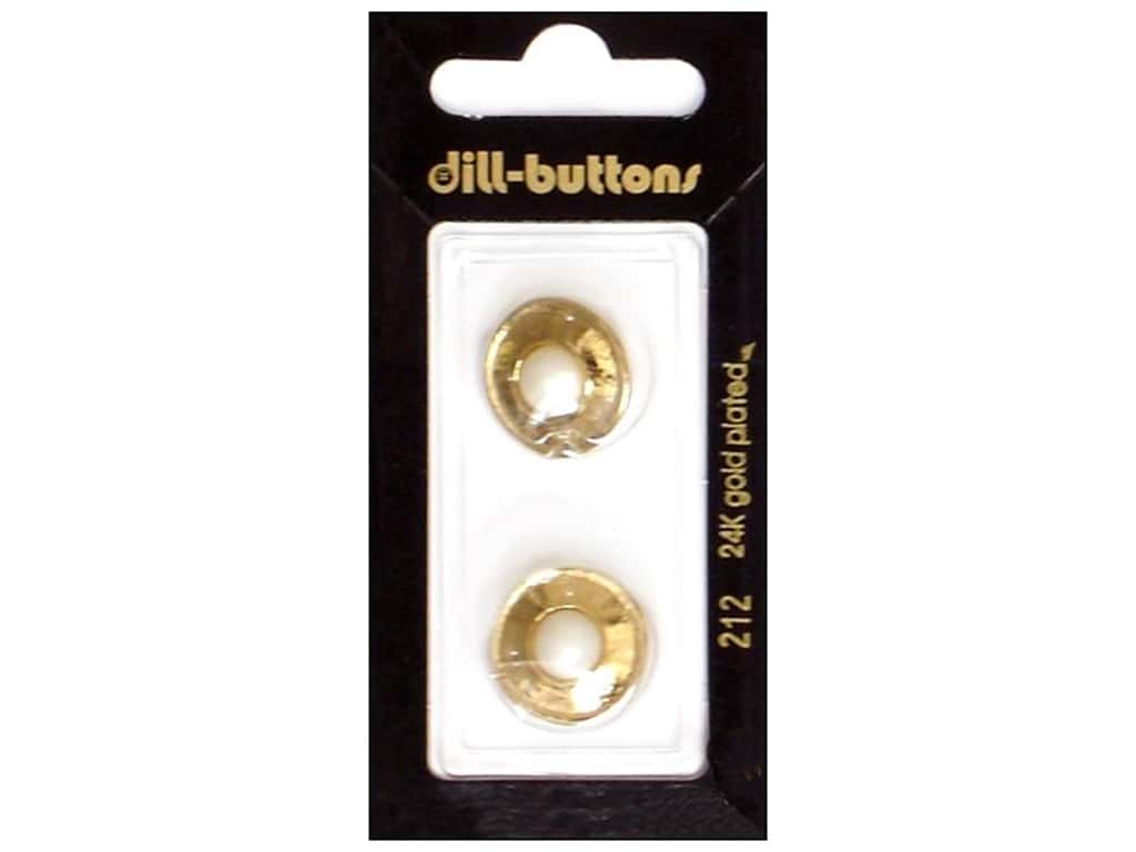 Dill Shank Buttons 11/16 in. Gold Metal #212 2 pc.