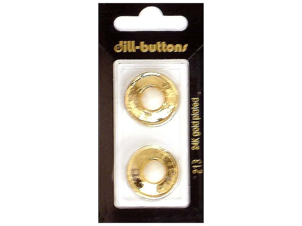 Dill Shank Buttons 7/8 in. Gold Metal #213 2 pc.