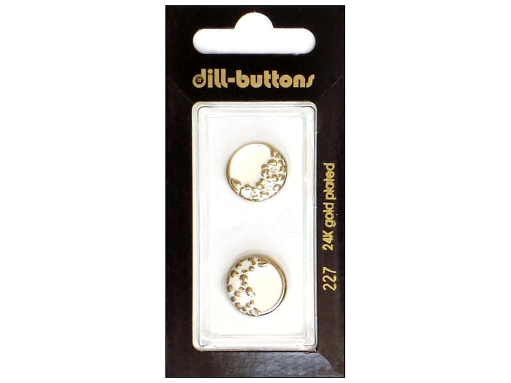 Dill Shank Buttons 5/8 in. Enamel White #227 2 pc.