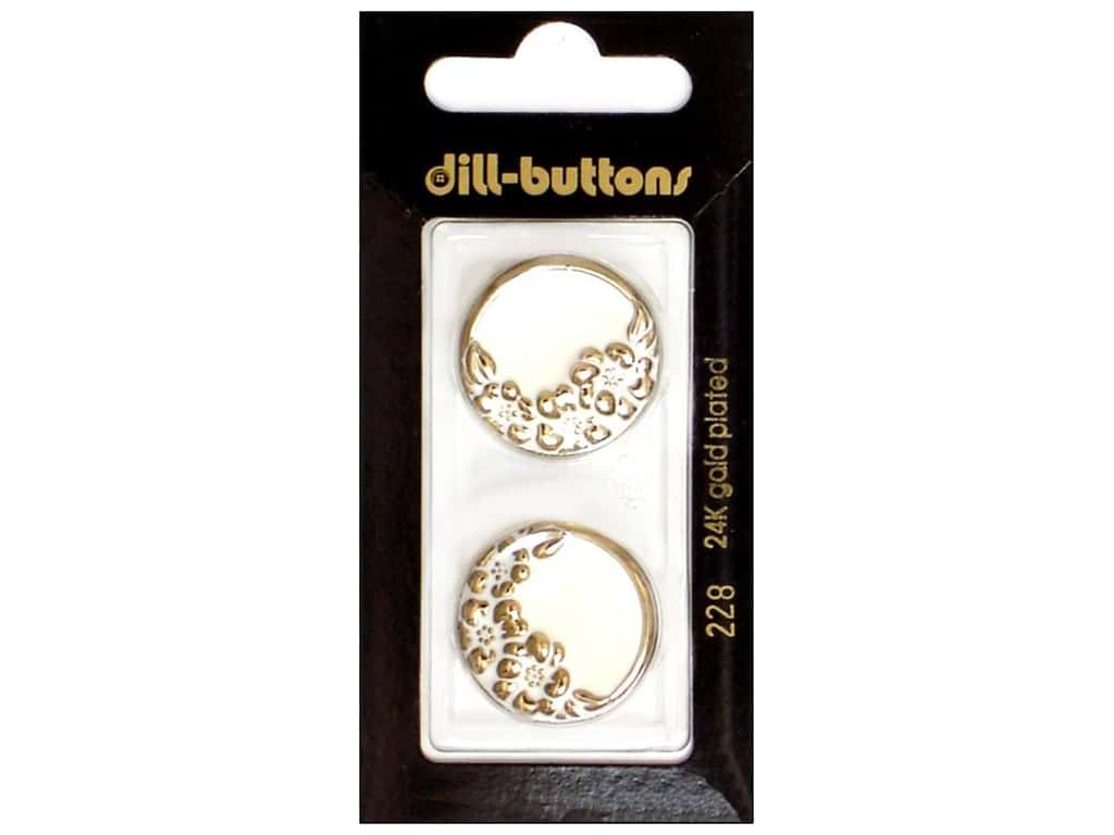 Dill Shank Buttons 7/8 in. White Enamel #228 2 pc.